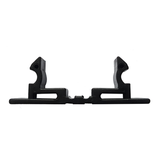 Black plastic latch for external handle